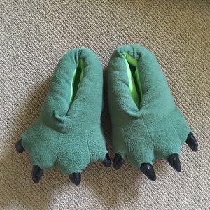 Shoes - Green Monster/ Dinosaur Slippers